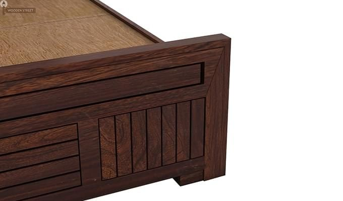 Libron Bed With Storage (Queen Size, Walnut Finish)-10