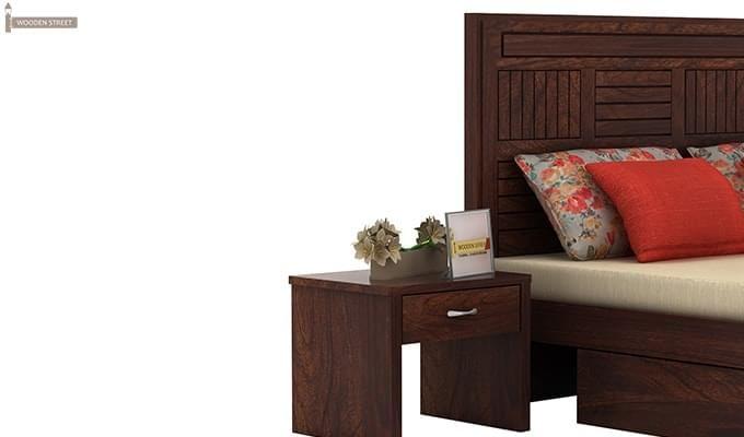 Libron Bedside Table (Walnut Finish)-1