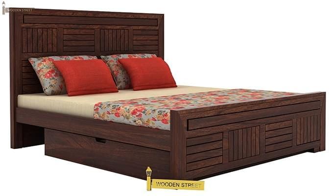 Libron Bed With Storage (Queen Size, Walnut Finish)-3