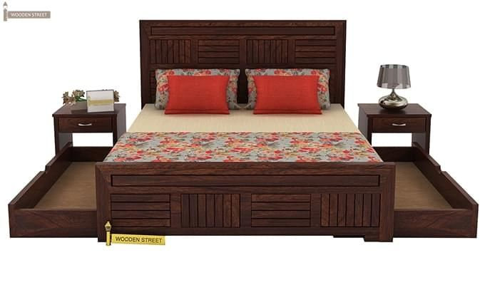 Libron Bed With Storage (Queen Size, Walnut Finish)-7