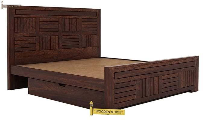 Libron Bed With Storage (Queen Size, Walnut Finish)-8