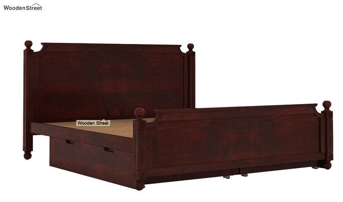 Aura Bed With Storage (King Size, Mahogany Finish)-6