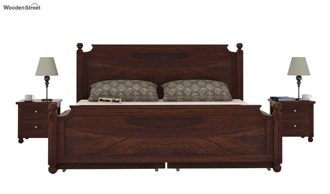 Aura Bed With Storage (King Size, Walnut Finish)-2