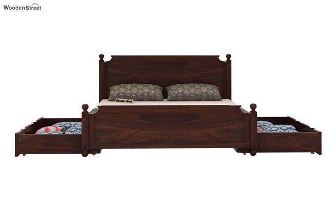 Aura Bed With Storage (King Size, Walnut Finish)-5