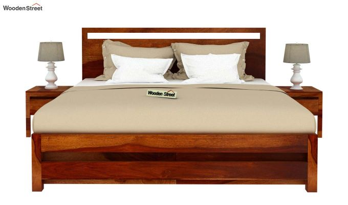 Bacon Bed With Storage (Queen Size, Honey Finish)-3