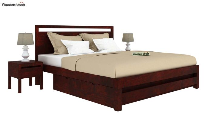 Bacon Bed With Storage (Queen Size, Mahogany Finish)-2