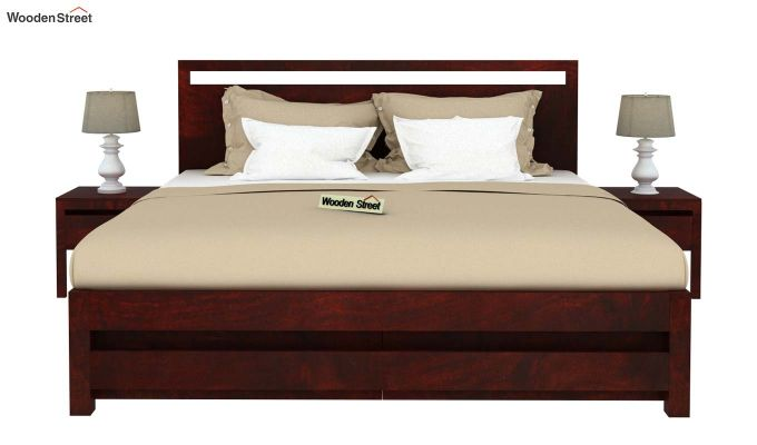 Bacon Bed With Storage (Queen Size, Mahogany Finish)-3