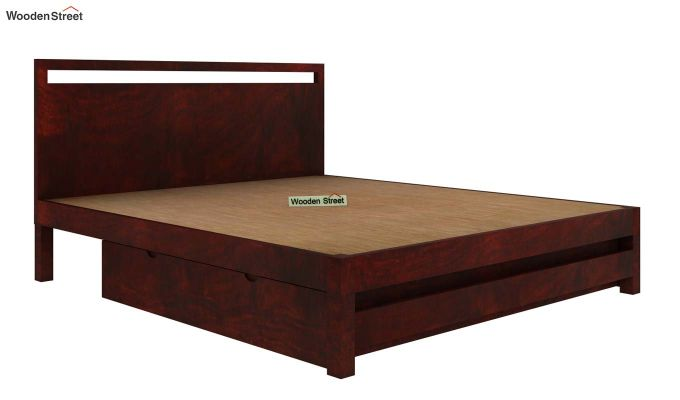 Bacon Bed With Storage (King Size, Mahogany Finish)-5