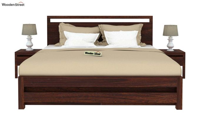 Bacon Bed With Storage (King Size, Walnut Finish)-3