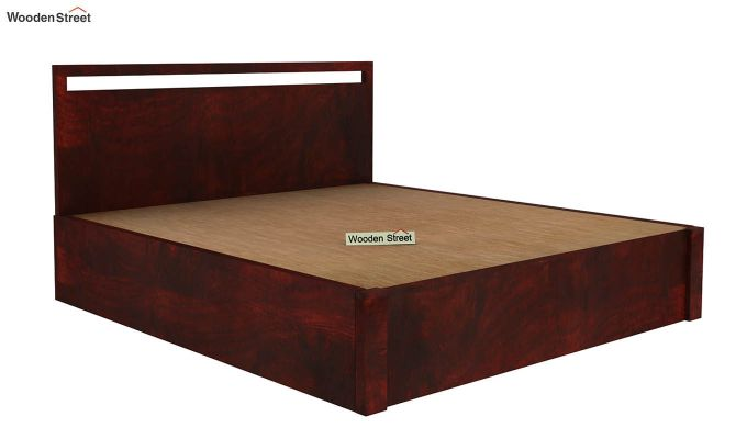 Bacon Hydraulic Bed With Storage (Queen Size, Mahogany Finish)-4
