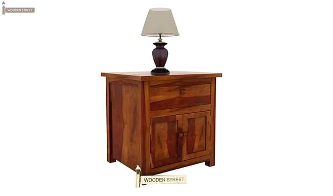 Christina Bedside Table (Honey Finish)-3