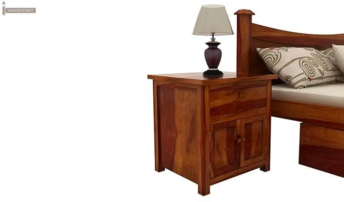 Christina Bedside Table (Honey Finish)-1