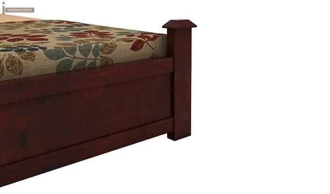 Christina Bed With Storage (Queen Size, Mahogany Finish)-7