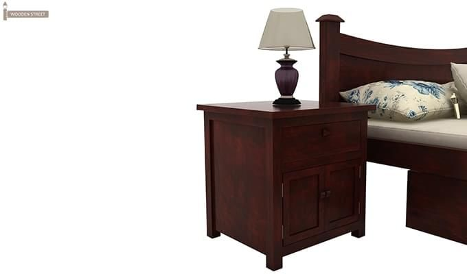 Christina Bedside Table (Mahogany Finish)-2