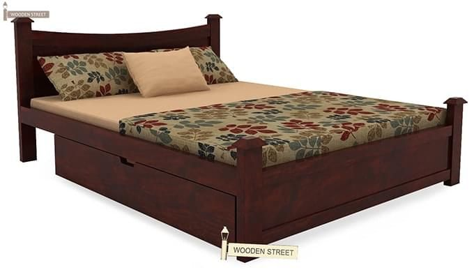 Christina Bed With Storage (Queen Size, Mahogany Finish)-3