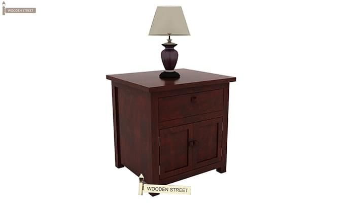 Christina Bedside Table (Mahogany Finish)-6