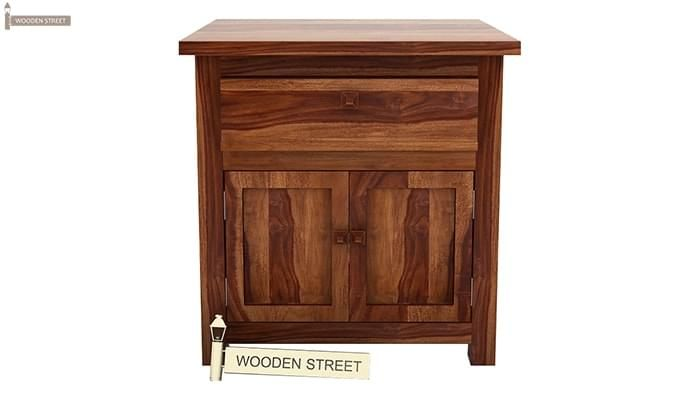 Christina Bedside Table (Teak Finish)-2