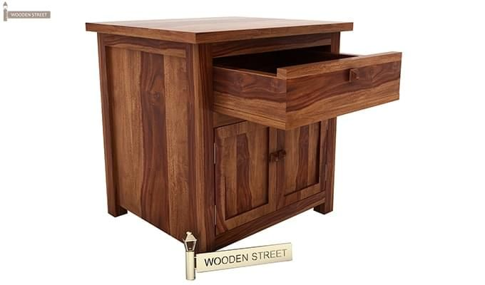 Christina Bedside Table (Teak Finish)-4