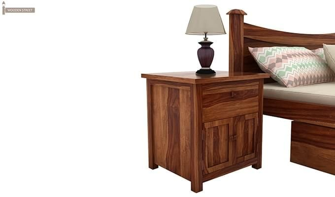 Christina Bedside Table (Teak Finish)-1