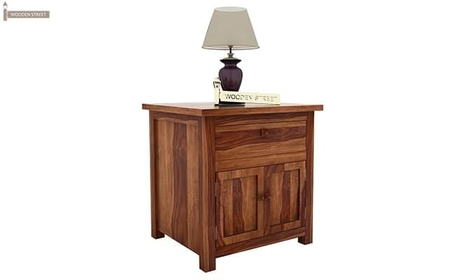 Christina Bedside Table (Teak Finish)-5