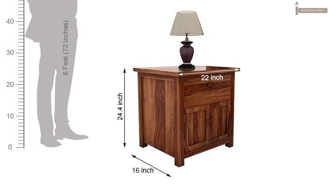 Christina Bedside Table (Teak Finish)-6