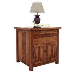 Christina Bedside Table (Teak Finish)