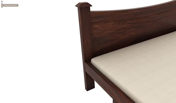 Christina Bed With Storage (Queen Size, Walnut Finish)-7