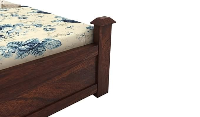 Christina Bed With Storage (King Size, Walnut Finish)-8