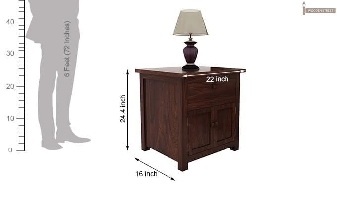 Christina Bedside Table (Walnut Finish)-6