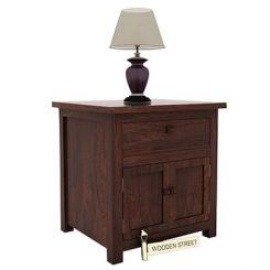 Christina Bedside Table (Walnut Finish)
