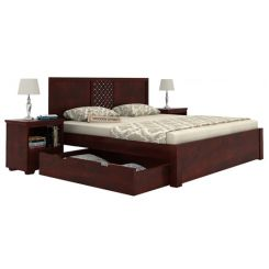 Cambrey Bed With Storage (King Size, Mahogany Finish)