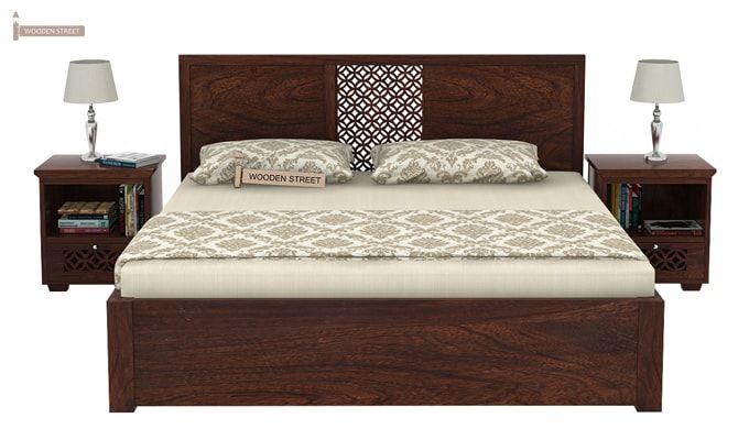 Cambrey Bed With Storage (Queen Size, Walnut Finish)-2