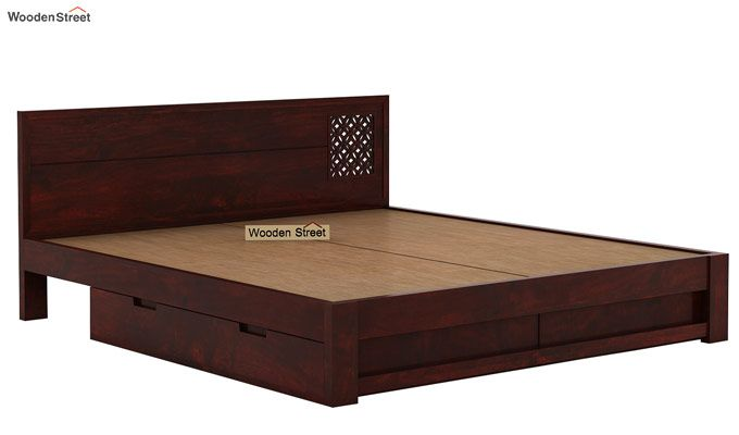 Cambrey Designed Bed With Storage (King Size, Mahogany Finish)-6