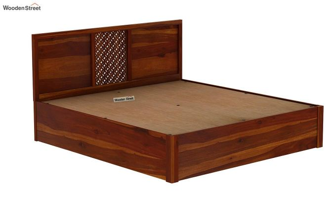 Cambrey Hydraulic Bed (Queen Size, Honey Finish)-8