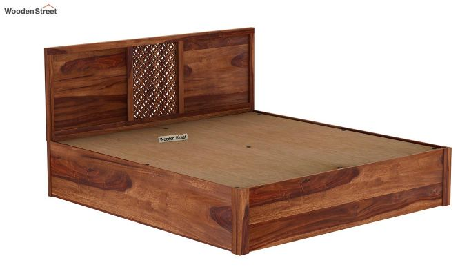 Cambrey Hydraulic Bed (King Size, Teak Finish)-8