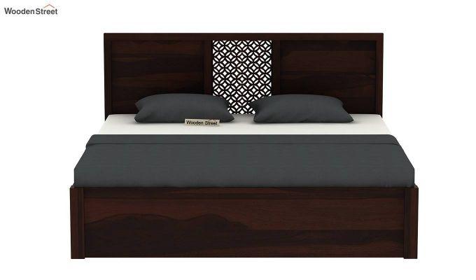 Cambrey Hydraulic Bed (Queen Size, Walnut Finish)-5