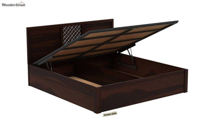 Cambrey Hydraulic Bed (Queen Size, Walnut Finish)-6