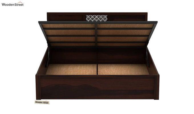 Cambrey Hydraulic Bed (Queen Size, Walnut Finish)-7