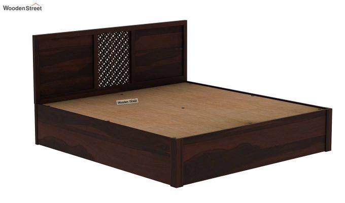 Cambrey Hydraulic Bed (Queen Size, Walnut Finish)-8