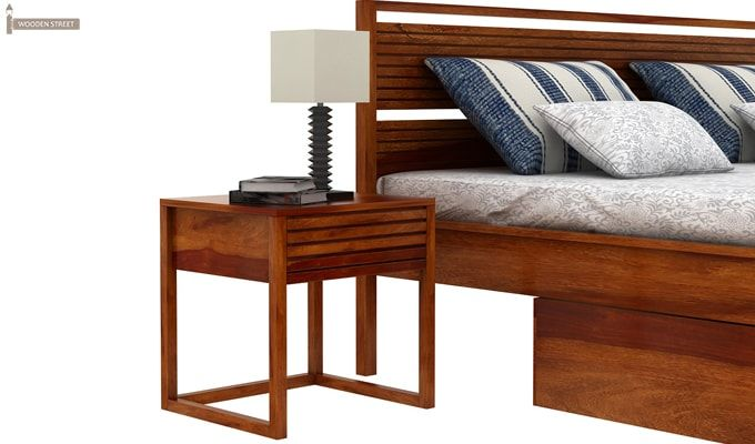 Costas Bed With Storage (King Size, Honey Finish)-4