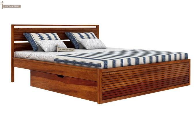 Costas Bed With Storage (King Size, Honey Finish)-5