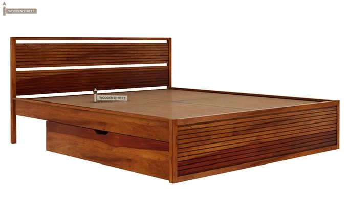 Costas Bed With Storage (King Size, Honey Finish)-6