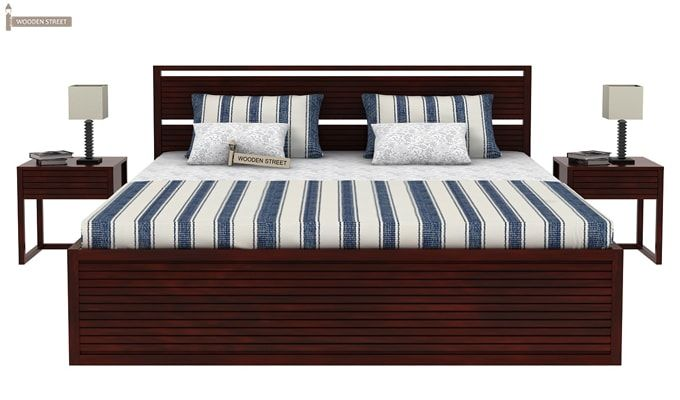Costas Bed With Storage (King Size, Mahogany Finish)-2