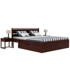 Costas Bed With Storage (King Size, Mahogany Finish)