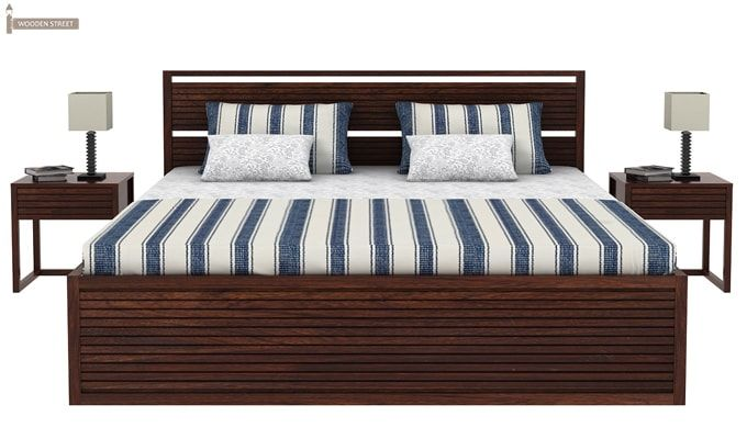 Costas Bed With Storage (King Size, Walnut Finish)-1