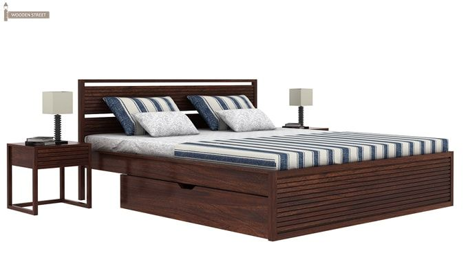 Costas Bed With Storage (King Size, Walnut Finish)-2