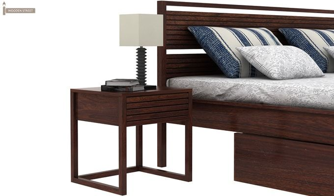 Costas Bed With Storage (King Size, Walnut Finish)-3