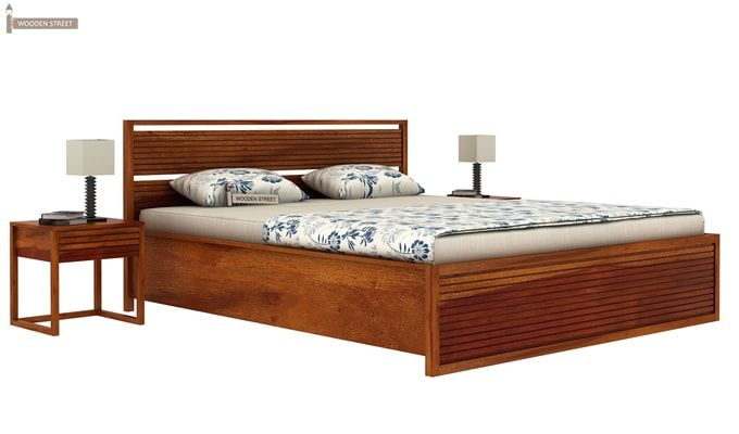 Costas Hydraulic Bed (Queen Size, Honey Finish)-2