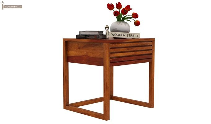 Costas Bedside Table (Honey Finish)-2
