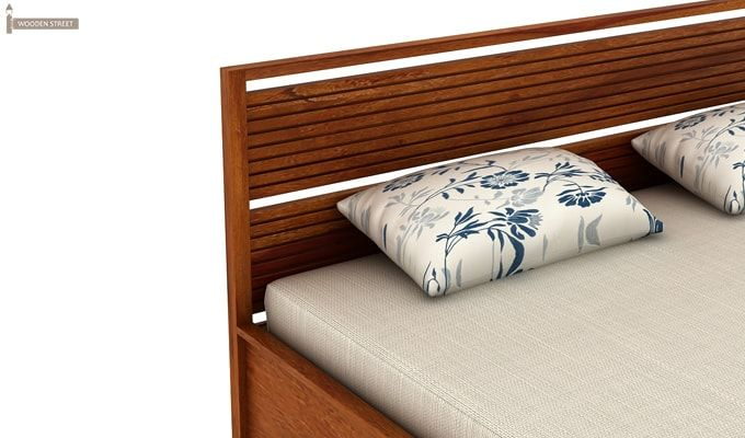 Costas Hydraulic Bed (King Size, Honey Finish)-6